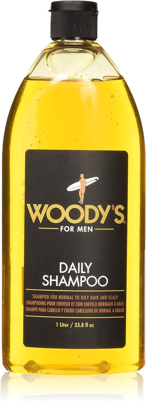 Woodys Daily Shampoo by Woodys for Men - 33.8 oz Shampoo, 1 L