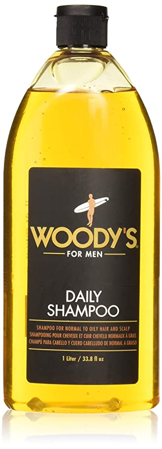 後方に柔らかさ退化するWoody's Daily Shampoo for Men, 33.8 Ounce by Woody's