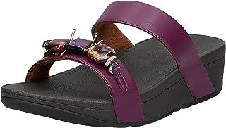 FITFLOP Lottie Marble Gem Slides Women's Women Fashion Sandals - Red (Lingonberry 744)
