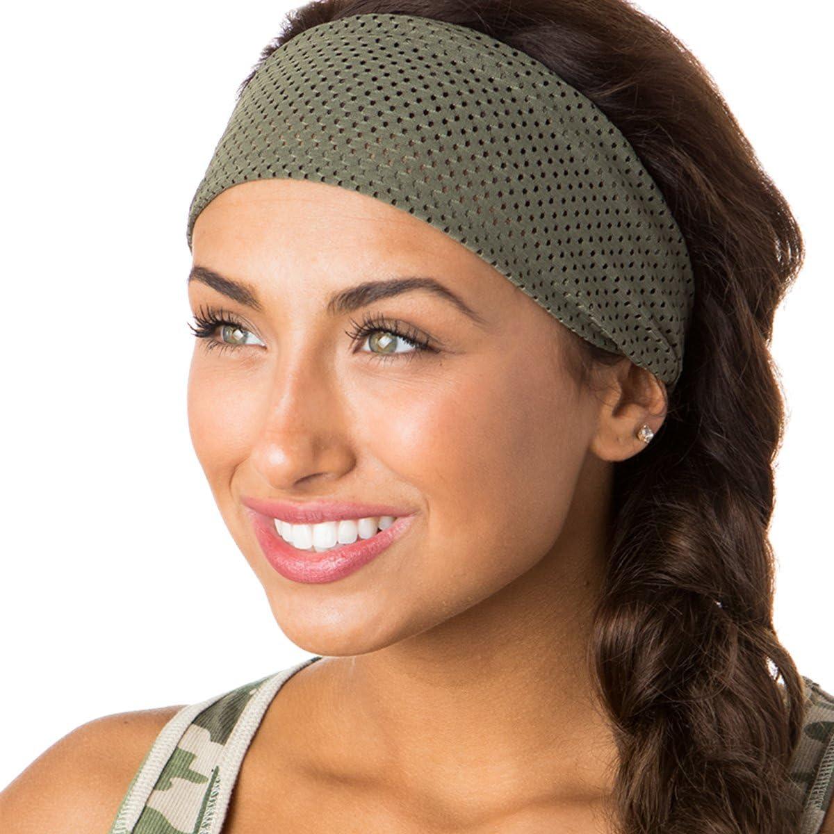 Hipsy Adjustable & Stretchy Jersey Xflex Wide Headbands for Women Girls & Teens
