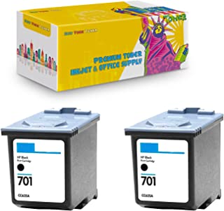 New York TonerTM New Compatible 2 Pack CC635A HP 701 High Yield Inkjet for HP FAX : FAX 640 | FAX 650 | FAX 2140 - Black