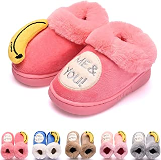 Kid's Slippers Boys Girls Warm House Slippers, Cute Cat Toddler Winter Home Shoes for Baby Girls and Boys, Fuzzy Indoor Bedroom Shoes