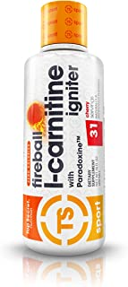 Top Secret Nutrition Fireball L-Carnitine Liquid w/Paradoxine, Cherry, 16 Ounce