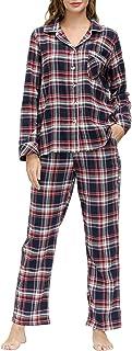 AIRIKE Women's Pajamas Set Long Sleeve Loungewear Two Piece Sleepwear Button Down Pj Set