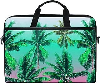 JSTEL Tropical Palm Trees Laptop Shoulder Messenger Bag Case Sleeve for 14 inch to 15.6 inch with Adjustable Notebook Shoulder Strap