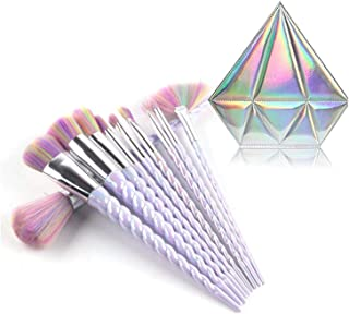 10pcs Unicorn Makeup Brush Set Professional Foundation Powder Cream Blush Brush Kits