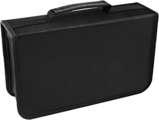 Fanspack Porta CD Archivador CD Estuche para CD Estuche de Almacenamiento portátil para Discos Multiuso de 128 capacidades...