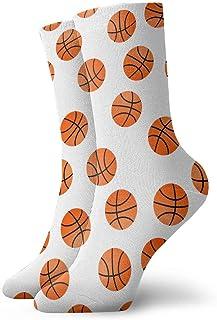 Drempad, Luxury Calcetines de Deporte Orange Basket Balls Pattern Unisex Socks, All-Season Lightweight Ankle Socks Crew Socks