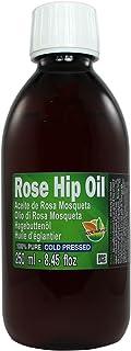 comprar comparacion Aceite Rosa Mosqueta 250ml (un cuarto litro) 100% Puro Origen Chile - Primera Prensada en Frió, Virgen Extra -Color naranj...