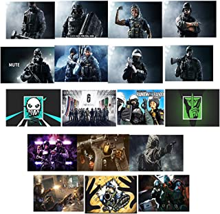 GTOTd Stickers for Rainbow Six Siege 20-Pcs, Stickers Decals Vinyls for Laptop,Waterbottle,Teens,Cars, Gift,Figure Collection