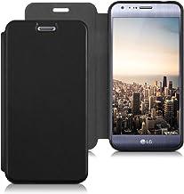 kwmobile Funda movil Compatible con LG X CAM - Carcasa de Cuero sintético - Case en Negro