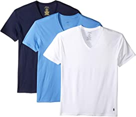 733265d3 Polo Ralph Lauren Classic Fit w/ Wicking 3-Pack V-Necks at Zappos.com