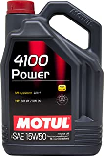 Motul 100273 4100 Power 15W-50 Semi-Synthetic Motor Oil, 169.05 Fluid_Ounces