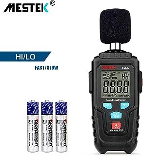 Decibel Meter Digital Sound Level Meter MESTKE 30 – 130 dB Noise Volume Measuring Instrument Reader Self-Calibrated Max Min Data Hold Fast/Slow Mode LCD Backlight Display/Flashlight