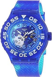 Swatch Women's SUUS100 La Nave Va Year-Round Analog Quartz Blue Watch