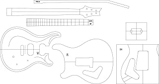 Electric Guitar Routing Template - PRS24