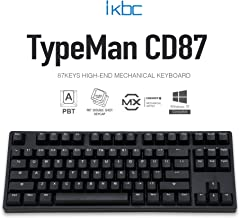 iKBC CD87 v2 Mechanical Keyboard with Cherry MX Clear Switch for Windows and Mac, Tenkeyless Ergonomic Keyboard with PBT Double Shot Keycaps for Desktop and Laptop, 87-Key, Black, ANSI/US