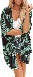 Women's Chiffon Floral Kimono Cardigan Summer Sheer Swimwear Beach Cover Up