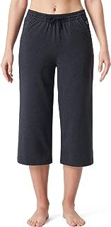 NAVISKIN Women's Yoga Lounge Capri Pants Active Stretch Flare Capri Crop Pants