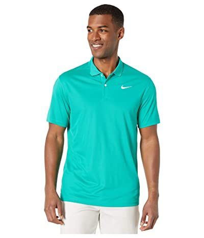 Nike Golf Dry Victory Polo Solid (Neptune Green/White) Men