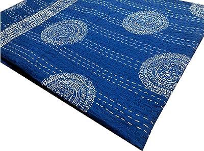 Handmade Kantha QuKantha Bedspread Indian Cotton Kantha Quilts 100/% cotton Handblock Kantha Quilt Indian Kantha Throw Cotton Gudari
