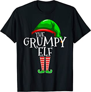 The Grumpy Elf Family Matching Group Christmas Gift Funny T-Shirt