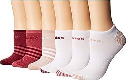 Superlite Mini Stripe 6-Pack No Show Socks