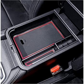 YEE PIN Center Console Organizer Tray Armrest Box Secondary Storage Insert ABS Materials Tray Compatible with 2019 2020 Elantra