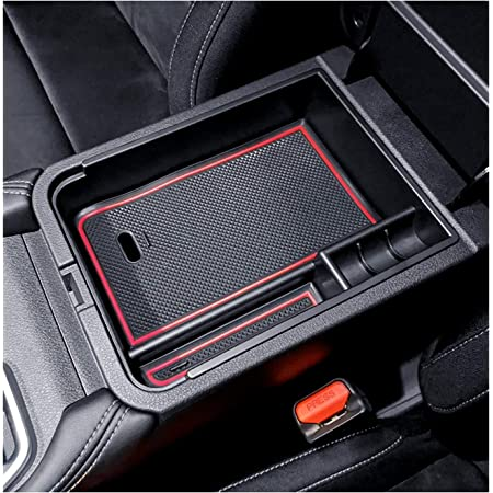 Black YEE PIN Center Console Organizer Tray Armrest Box Secondary Storage Insert ABS Materials Tray Compatible with Kia Forte 2020