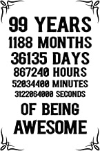 99 years 1188 months Of Being Awesome: 99th Birthday Notebook Journal for Men & Women, A Happy Birthday 99 Years Old Journ...
