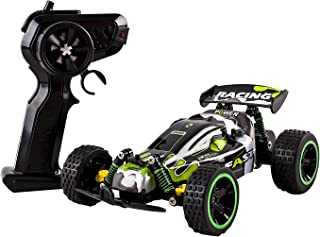 Speed Power Remote Control RC Buggy 2.4Ghz 1:18 Scale Ready to Run w/ Suspension Toy (Green Color)