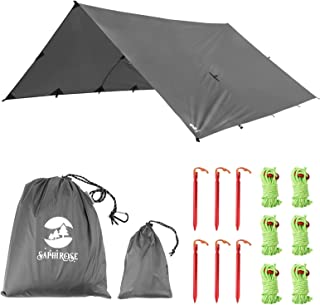 SaphiRose Waterproof Camping Tarp Outdoor Tent Accessories Survival Gear Perfect Hammock Shelter for Hiking Camping 10x10/...