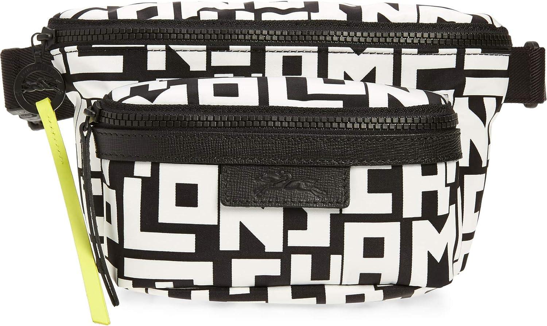 Longchamp Women's Black white Logo Belt Popular overseas Bag 2021 spring and summer new