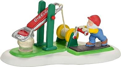 Department 56 North Pole Coca Cola Bottle Cap Tester Figurine Village Accessory, Multicolor