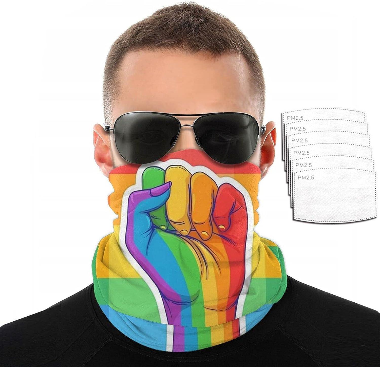 LGBT Face Cover Mouth Mask Bandana Neck Gaiter for mountain climbing