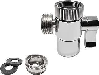 AVAbay Polished Chrome Faucet Diverter Valve-Handheld Handshower Bidet Shattaf Hot/Cold Bathroom Sink Adapter-Hose Attachment Connector Diaper Sprayer for Water Diversion (Faucet Diverter)