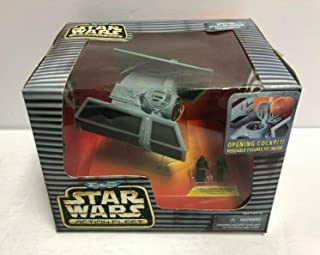 Darth Vader's TIE Fighter Star Wars 1996 Micro Machines Action Fleet Vehicle Set with Pilot