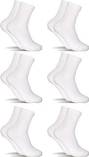 POPYS, 6 Pares Calcetines de algodón Mujer Hombre caña media