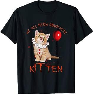 We All Meow Down Here Clown Cat Kitten Funny Halloween Gift T-Shirt