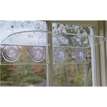 Window Garden Double Veg Ledge – Create an Indoor Garden, Hold Your Planter Pots, Seed Starter, Figurines on Your Window. Grow Herbs, Microgreens, Succulents, Sleek, Dependable. (1 Pack)