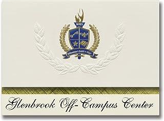 Signature Announcements Glenbrook Off-Campus Center (Glenview, IL) Graduation Announcements, Presidential style, Elite pac...