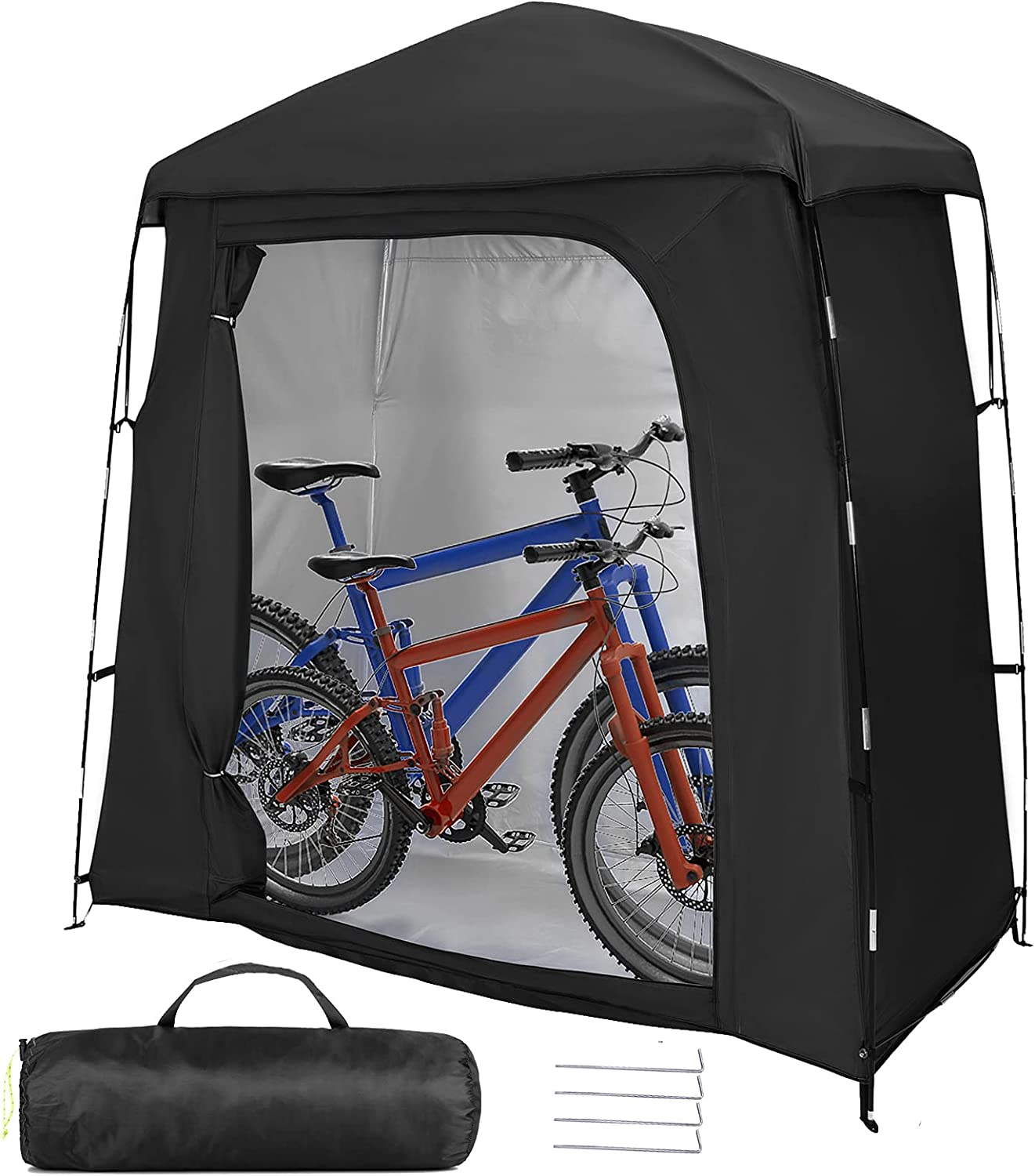 Large Portable Bike High material Storage Shed Tent 210D Silver Max 71% OFF Coated PU4000