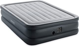 Intex 64139EP Dura-Beam Standard Series Essential Rest Airbed with Internal Electric Pump, Bed Height 20in, Queen, gray