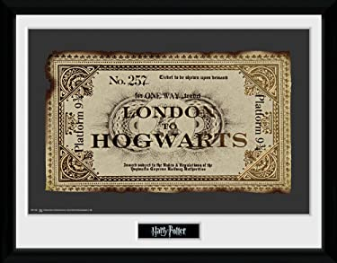 Harry Potter 1art1 Framed Collector Poster - Ticket London to Hogwarts (16 x 12 inches)