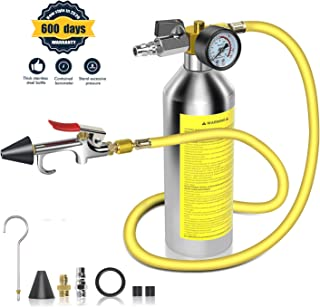 AC Flush Kit,A/C Air Conditioner System Flush Canister Kit Clean Tool Set R134a R12 R22 R410a R404a for Auto Car with 3.5 ft Hose 1/4