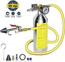 AC Flush Kit,A/C Air Conditioner System Flush Canister Kit Clean Tool Set R134a R12 R22 R410a R404a for Auto Car with 3.5 ft Hose 1/4