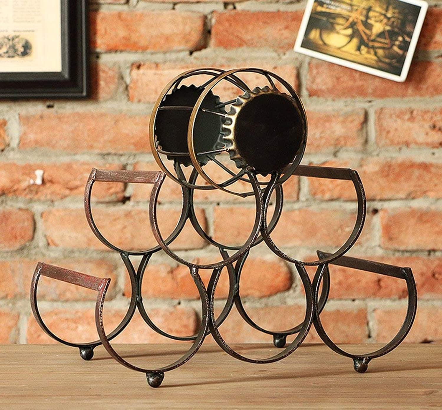 Red Wine Shelf Retro Creative Wine Rack Decoration European - Style Bicycles Wine Rack Home Living Room Decorations Small Furnishings Multifunction (color    2) (color    3)