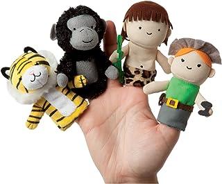 Manhattan Toy 故事时手指玩偶丛林故事毛绒玩具