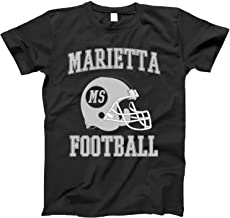 4INK Vintage Football City Marietta Shirt for State Mississippi with MS on Retro Helmet Style