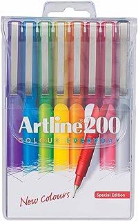 ARTLINE 1200748 200 BRIGHT FINELINER PEN 0.4MM WALLET 8